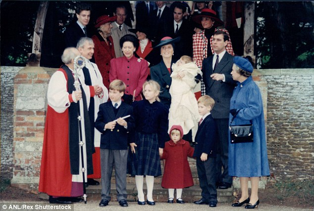 The christening of the Duchess Of York (Sarah Ferguson) and Prince Andrew's daughter Princess Eugenie