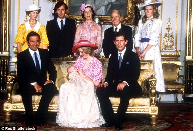 The christening of Princess Diana and Prince Charles's son Prince William