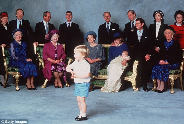 The christening of Princess Diana and Prince Charles's son Prince Harry