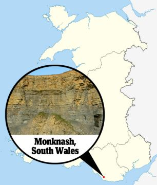 The bones, uncovered in Monknash, in the Vale of Glamorgan, belong to a male in his late 20s