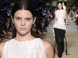 eURN: AD*180687823  Headline: Givenchy show, Spring Summer 2016, New York Fashion Week, America - 11 Sep 2015 Caption: Mandatory Credit: Photo by Giovanni Giannoni/WWD/REX Shutterstock (5065158d)  Kendall Jenner on the catwalk  Givenchy show, Spring Summer 2016, New York Fashion Week, America - 11 Sep 2015    Photographer: WWD/REX Shutterstock Loaded on 12/09/2015 at 01:28 Copyright: REX FEATURES Provider: WWD/REX Shutterstock  Properties: RGB JPEG Image (50584K 1964K 25.8:1) 3280w x 5264h at 300 x 300 dpi  Routing: DM News : GeneralFeed (Miscellaneous) DM Showbiz : SHOWBIZ (Miscellaneous) DM Online : Online Previews (Miscellaneous), CMS Out (Miscellaneous)  Parking: