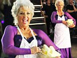 Hollywood, CA - Paula Deen poses with a bowl of butter for a promo ahead of the season 21 premiere of 'Dancing With The Stars'.  The butter-loving chef wore a purple dress with a bedazzled apron. Paula was joined by her dancing pro partner Louis Van Amstel.\nAKM-GSI         September 10, 2015\nTo License These Photos, Please Contact :\nSteve Ginsburg\n(310) 505-8447\n(323) 423-9397\nsteve@akmgsi.com\nsales@akmgsi.com\nor\nMaria Buda\n(917) 242-1505\nmbuda@akmgsi.com\nginsburgspalyinc@gmail.com