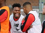 Sturridge looked delighted to be back training with his team-mates after a frustrating spell of injuries in the last year