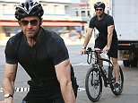 EXCLUSIVE: Hugh Jackman exercising on his bike after his Australian break, NYC\n\nPictured: Hugh Jackman\nRef: SPL1116327  080915   EXCLUSIVE\nPicture by: Splash News\n\nSplash News and Pictures\nLos Angeles: 310-821-2666\nNew York: 212-619-2666\nLondon: 870-934-2666\nphotodesk@splashnews.com\n