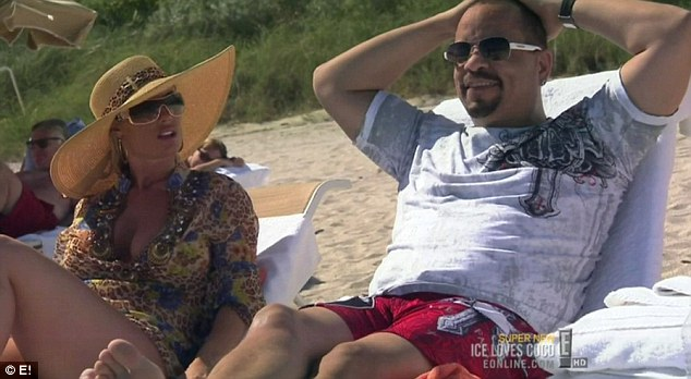 Just the two of us: Coco was annoyed when her husband Ice-T refused to tell his friend Marc that they wanted to be alone on the beach