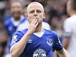 LIVERPOOL, ENGLAND - SEPTEMBER 12:  Steven Naismith celebrates scoring his first goal during the Barclays Premier League match between Everton and Chelsea at Goodison Park on September 12, 2015 in Liverpool, United Kingdom.  (Photo by Tony McArdle/Everton FC via Getty Images)