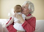 Grandmother Hugging Baby.   Image by   LWA-Sharie Kennedy/Corbis
