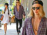 September 11, 2015: Vanessa Hudgens and boyfriend Austin Butler grab drinks at Starbucks in Los Angeles, CA.\nMandatory Credit: Lek/INFphoto.com Ref: infusla-298
