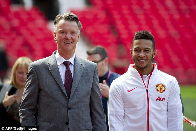 Memphis Depay has been pictured at Old Trafford for the first time as he prepares for a press conference