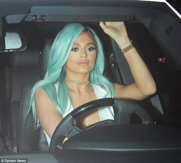 Guest of honour: The reality star was seen driving up to the event in her car