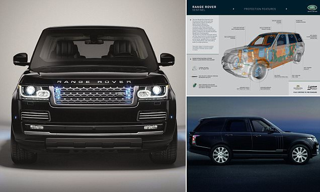 Range Rover Sentinel luxury car debuted and can withstand bullets and bombs