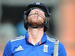 SPT_GCK_130915_ Cricket, ODI  5th in the series England v Australia Old Trafford. Picture Graham Chadwick. BA Stokes lbw b Marsh 42