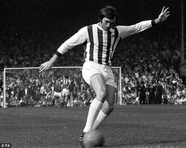Legend: West Bromwich Albion legend Jeff Astle in his playing prime