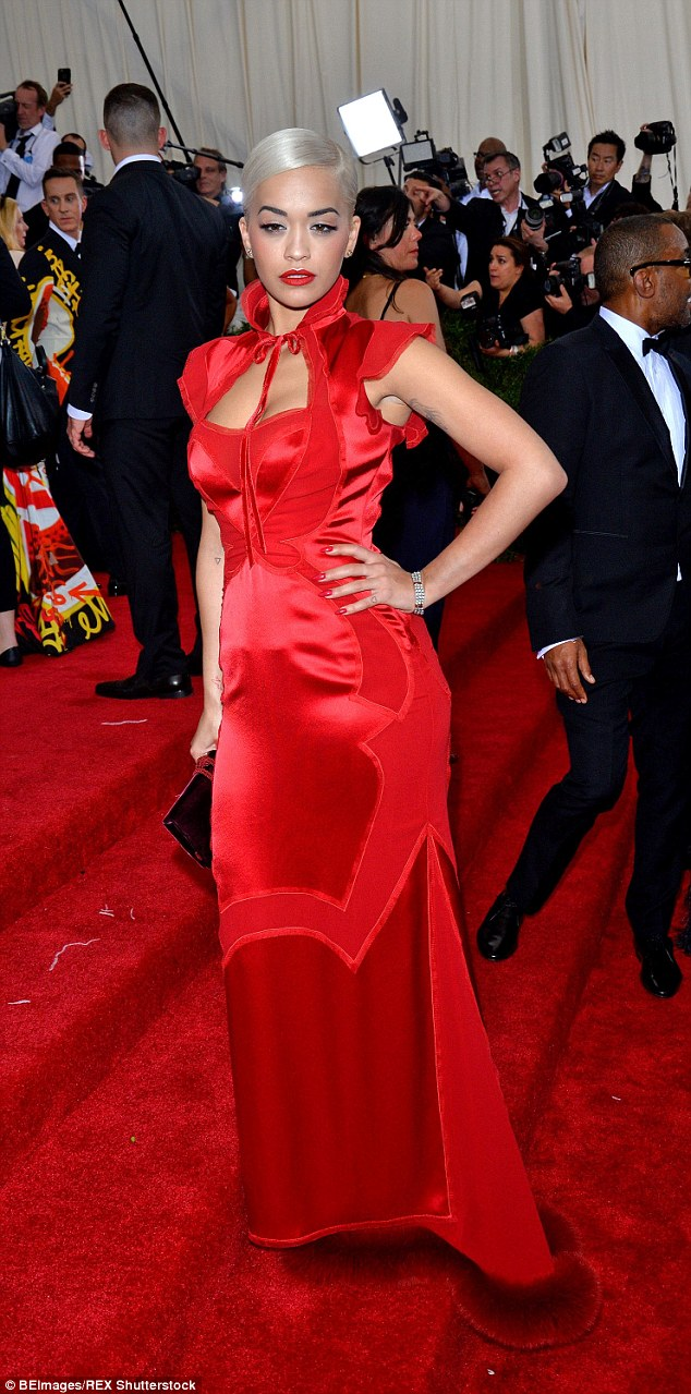 The X Factor judge showed off a slightly more demure look in a red gown for the Met Gala in May this year