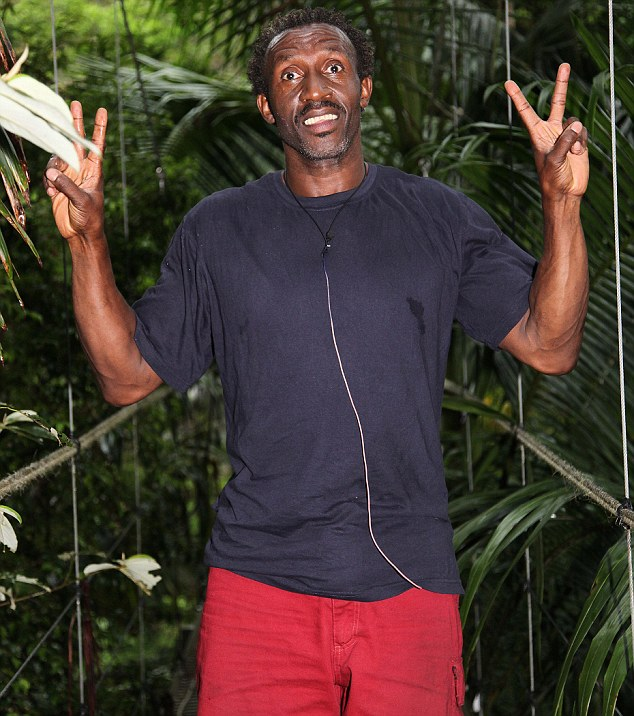 Delighted: Linford Christie has been voted off I'm A Celebrity.. Get Me Out Of Here! after 18 days