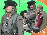 Hugh Bonneville during fliming for Galavant on the Matthew in Bristol harbour. See South West copy SWPIRATE: What would Carson say? Downton Abbey actor Hugh Bonneville took on a more scruffy appearance when he stepped out as a PIRATE for his latest role. The 51-year-old star, who is best known as the immaculately-dressed Robert Crawley, sported an unkempt beard, scraggly hair and ragged clothes. He was filming for the American fantasy musical TV series 'Galavant' which was being shot aboard historic ship 'The Matthew' on Bristol's harbourside on Friday.