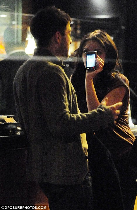 'Look, you're No. 1'! Stacey appears to be showing Matt the singles chart on her phone