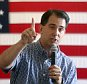 Republican presidential candidate Wisconsin Gov. Scott Walker speaks to supporters Friday, Sept. 11, 2015, in Maquoketa, Iowa. (Nicki Kohl/Telegraph Herald via AP) MANDATORY CREDIT