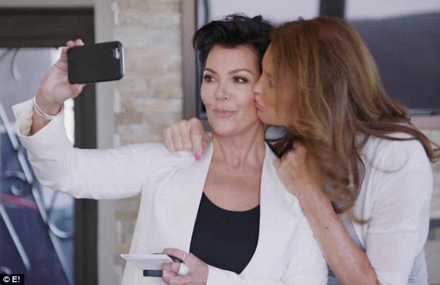 Oh snap! Caitlyn Jenner surprised Kris Jenner by stealing a kiss as they posed for a selfie in Sunday night's edition of E!'s I Am Cait, that EOnline shared