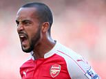 **EDITORIAL USE ONLY** Image:  39385510 (150913) -- LONDON, Sept. 12, 2015 (Xinhua) -- Theo Walcott of Arsenal celebrates after scoring during the Barclays Premier League match between Arsenal and Stoke City at the Emirates Stadium in London, England, Sept. 12, 2015. Arsenal won 2-0. PHOTOGRAPH BY Xinhua /Landov / Barcroft Media UK Office, London. T +44 845 370 2233 W www.barcroftmedia.com USA Office, New York City. T +1 212 796 2458 W www.barcroftusa.com Indian Office, Delhi. T +91 11 4053 2429 W www.barcroftindia.com