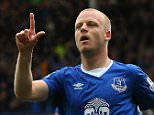 LIVERPOOL, ENGLAND - SEPTEMBER 12:  Steven Naismith of Everton celebrates scoring the opening goal during the Barclays Premier League match between Everton and Chelsea at Goodison Park on September 12, 2015 in Liverpool, United Kingdom.  (Photo by Alex Livesey/Getty Images) ***BESTPIX***