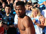 12 September 2015 - Barclays Premier League - Crystal Palace v Manchester City - Kelechi Iheanacho of Manchester City after celebrating with the fans - Photo: Marc Atkins / Offside.