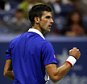 NEW YORK, NY - SEPTEMBER 13:  Novak Djokovic of Serbia reacts against Roger Federer of Switzerland during their Men's Singles Final match on Day Fourteen of the 2015 US Open at the USTA Billie Jean King National Tennis Center on September 13, 2015 in the Flushing neighborhood of the Queens borough of New York City.  (Photo by Matthew Stockman/Getty Images)