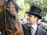 Owner Michael Owen with his King George V stakes winning horse Brown Panther during Day Three of the 2011 Royal Ascot Meeting.