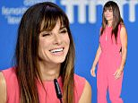 """Sandra Bullock attends a press conference for """"Our Brand is Crisis"""" on Day 3 of the Toronto International Film Festival at the TIFF Bell Lightbox, on Saturday, Sept. 12, 2015, in Toronto. (Photo by Evan Agostini/Invision/AP)"""