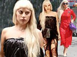September 13, 2015: Lady Gaga looks like she's wearing a black trash bag, New York City.\nMandatory Credit: Kristin Callahan/ACE/INFphoto.com  Ref: infusny-220