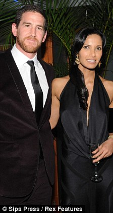 Boiling over: Adam Dell (left) claims Padma Lakshmi hoped her other lover, IMG boss Ted Forstmann (right), was the biological father of her child