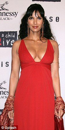 Curvy: Padma was proud of her voluptuous curves when she was pregnant
