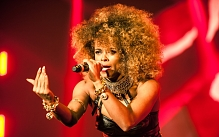 Fleur East performing at X Factor Live tour