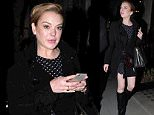 11 SEP 2015 - LONDON - UK\n*** EXCLUSIVE ALL ROUND PICTURES* **\nHOLLYWOOD WILD CHILD LINDSAY LOHAN SPOTTED ENJOYING A NIGHT OUT IN MAYFAIR!\nBYLINE MUST READ : XPOSUREPHOTOS.COM\n***UK CLIENTS - PICTURES CONTAINING CHILDREN PLEASE PIXELATE FACE PRIOR TO PUBLICATION ***\nGERMAN CLIENTS PLEASE CALL TO AGREE FEE PRIOR TO PUBLICATION **UK CLIENTS MUST CALL PRIOR TO TV OR ONLINE USAGE PLEASE TELEPHONE  +44 208 344 2007**