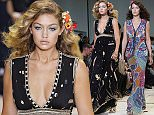 Mandatory Credit: Photo by Matt Baron/REX Shutterstock (5074275bj)  Bella Hadid  Diane Von Furstenberg show, Spring Summer 2016, New York Fashion Week, America - 13 Sep 2015