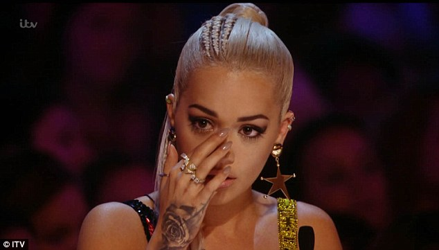 Tearful: There were some tears for Rita Ora, nonetheless