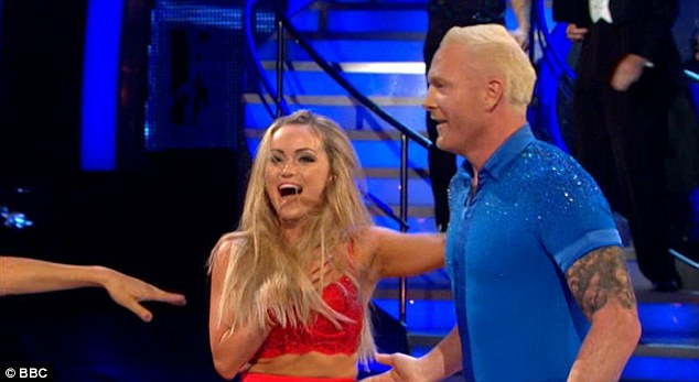 In shock! Ola Jordan said she ripped her skirt, broke her nail and saw her boobs pop out on live TV on Saturday's Strictly launch as she was paired with Iwan Thomas