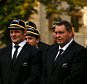 LONDON, ENGLAND - SEPTEMBER 11:  Richie McCaw and coch Steve Hansen of the New Zealand All Blacks stand with the team for a group photo following their RWC 2015 Welcome Ceremony at the Tower of London on September 11, 2015 in London, England.  (Photo by Phil Walter/Getty Images)