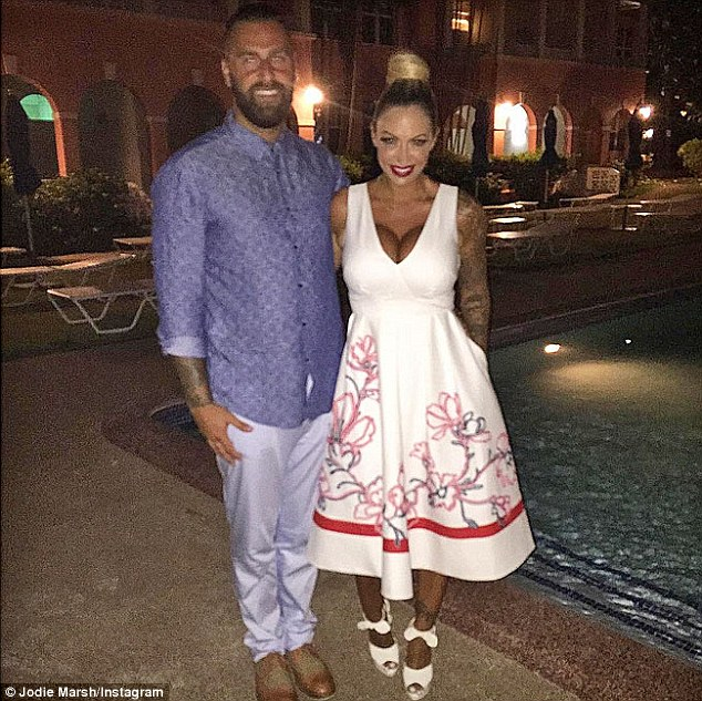 Wow: The pair dressed up to the nines for a dinner date as man and wife