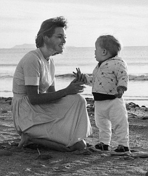 With Jeff as a toddler in 1965