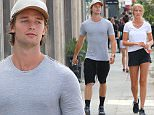 Picture Shows: Patrick Schwarzenegger  September 11, 2015\n \n Actor Patrick Schwarzenegger is spotted heading to lunch at Joan's On Third in West Hollywood, California with a mystery woman.\n \n Has Patrick, who called it quits with pop star Miley Cyrus earlier this year, found a new love interest? \n \n Exclusive All Rounder\n UK RIGHTS ONLY\n \n Pictures by : FameFlynet UK © 2015\n Tel : +44 (0)20 3551 5049\n Email : info@fameflynet.uk.com