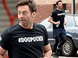 """Picture Shows: Hugh Jackman  September 11, 2015\n \n """"Pan"""" star Hugh Jackman jogs to the gym in New York City. Hugh looks to be gearing up for his final run as an X-Man in an upcoming """"Wolverine"""" movie.\n \n Non Exclusive\n UK RIGHTS ONLY\n \n Pictures by : FameFlynet UK � 2015\n Tel : +44 (0)20 3551 5049\n Email : info@fameflynet.uk.com"""