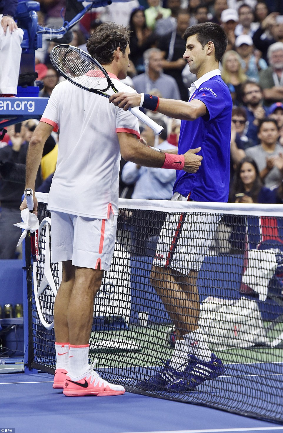 The pair showed great mutual respect for one another after a thrilling final in New York