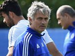 Chelsea FC via Press Association Images MINIMUM FEE 40GBP PER IMAGE - CONTACT PRESS ASSOCIATION IMAGES FOR FURTHER INFORMATION. Chelsea's Jose Mourinho during a training session at the Cobham Training Ground on 11th September 2015 in Cobham, England.