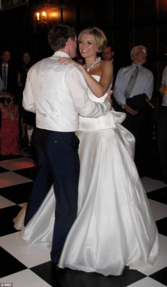 But her marriage to Jamie Gilbert, pictured on their wedding day, broke down and they separated in November last year. Rachel and Pasha are now a couple