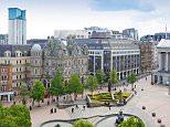 BNYT7C Victoria Square and New Street, Birmingham, England