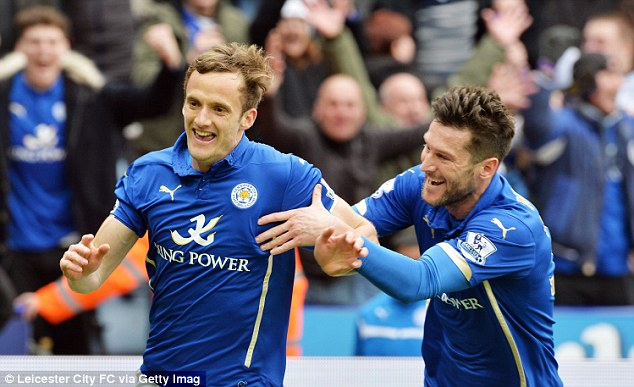 King is joined by David Nugent to celebrate his goal, the 50th he has scored for his club