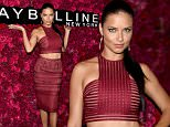 NEW YORK, NY - SEPTEMBER 13:  Model Adriana Lima attends Maybelline New York Celebrates New York Fashion Week at Sixty Five on September 13, 2015 in New York City.  (Photo by Jamie McCarthy/Getty Images for Maybelline)