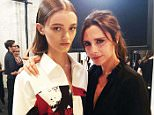 Instagram images from Victoira Beckham account - New York fashion show