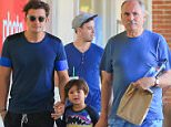Orlando Bloom  spends a chill day in Malibu with son Flynn and dad Harry in Malibu September 12, 2015  X17online.com